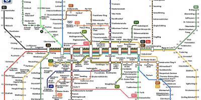 Karta Tyskland Tag.Munchen Map Kartor Munchen Bayern I Tyskland